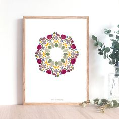 Art Floral, Deco Floral, Sacred Geometry Tattoo, Wreath Drawing, Pressed Flower Art, Creation Deco, Crochet Home Decor, Valentine Decorations, Flower Frame