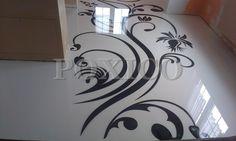 podloga 3d  grafika i brokat. 3D epoxy floor