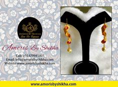 A Woman's Outfit Is Incomplete Without A Pair Of Earrings. So No Matter Where You Are Going, Don't Forget To Add A Good Pair Of Earrings To Your Outfit. To Place Your Order Contact: Call: +1 6479945801 Email: info@amorisbyshikha.com  web: http://amorisbyshikha.com/ #Amorisbyshikha #Loveforelegance