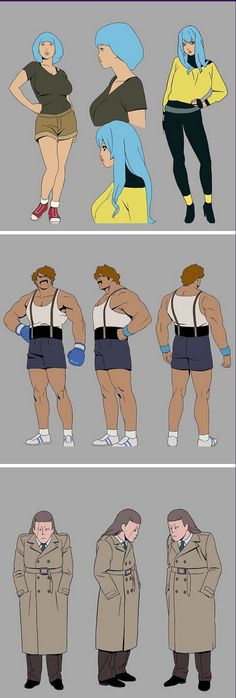 """New designs for upcoming """"Lastman"""" French animated TV series directed by Jeremie Perin."""