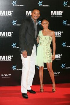 """Will Smith and Jada Pinkett Smith attending the premiere of """"Men In Black 3"""" at La Caja Magica in Madrid, Spain."""