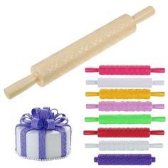 10-Style-Embossing-Rolling-Pin-Fondant-Cake-Paste-Decor-Sugarcraft-DIY-Tools