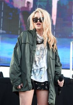 """@skyferreira performing """"You're Not Good Enough"""" at FYF festival during Dev's set!"""