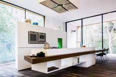 Kitchen island at Villa K in Bergen, Norway by Architecten CSK