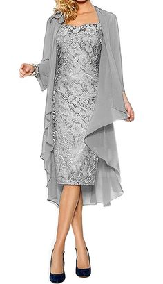 Meledy Women's Lace Sheath Straps Mother of the Bride Dress with Jacket -- You can get more details here : mother of the bride dresses
