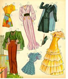 Mary Martin 1942 paper dolls...this is actually something my MOM would have had...but I love the clothes and the colors!