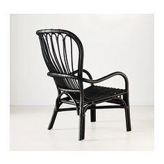 STORSELE Stol med høj ryg, sort, rotting - IKEA