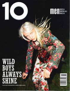 Dylan Fosket cover the Winter 2013 issue of 10 Men magazine, photographed by Magnus Unnar and styled by Hector Castro with a total look from Gucci's Spring/Summer 2014 collection. Mens Fashion Magazine, Male Magazine, Magazine Cover Layout, British Magazines, Magazin Covers, Cover Boy, Fashion Cover, Music Magazines, Mixing Prints