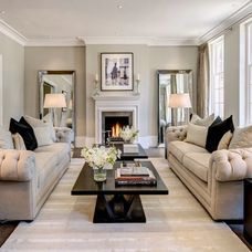 Transitional Living Room by Milc Property Stylists