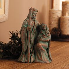 Verdigris Nativity - TerrysVillage.com