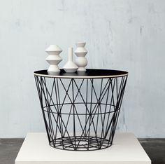 FORMVER: Kansi Wire basket koriin, large, 3 väriä