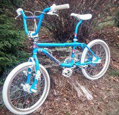 - Bmx Bikes - Ideas of Bmx Bikes - Beautifully restored blue GT Performer freestyle bike! Fox Racing Logo, Gt Bikes, Vintage Bmx Bikes, Gt Bmx, Bmx Freestyle, Bmx Bicycle, Bike Parking, Bike Style, Bike Life