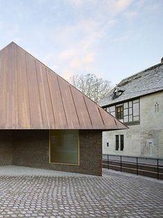 Herzog de Meuron. Unterlinden Museum expansion. Colmar. 2016. Form, material. Brick, copper.