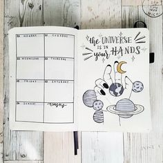 12 Galaxy and Space Themed Bullet Journal Spread - Looking for Inspiration on your latest Bullet Journal theme? Here are 12 Out of this world galaxy and space themed bullet journal spreads Bullet Journal August, Future Log Bullet Journal, Bullet Journal Simple, Bullet Journal Writing, Bullet Journal Inspo, Bullet Journal Spread, Bullet Journal Layout, Bullet Journal Ideas Pages, Book Journal