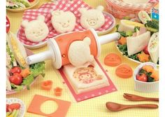 Maybe someday I'll be one of THOSE moms... Bandai Cook Joy Pack Sandwich Maker on Gadget Her