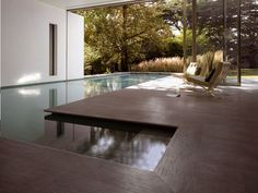 TECHNICAL CERAMIC WALL/FLOOR TILES FOR INDOORS AND OUTDOORS STONE FOREST BY GRANITIFIANDRE. Indoor/outdoor pool.