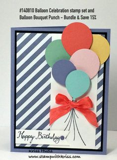 Stampin' Up! Balloon Celebration stamp set and coordinating punch from 2016…
