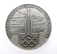 Participation Medal Moscow - Capital of the XXII Olympic Games 1980 LMD Teilnahmenmedaille Olympiade 80 in Moskau by Olympiad80 on Etsy