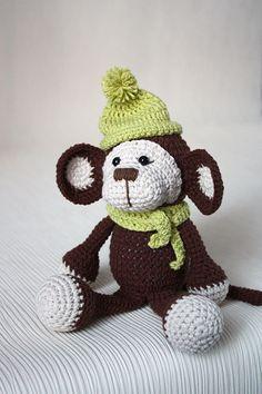 Monkey - Crochet toy - Kids Toy - Plush Doll - Small Toy - Stuffed Toys - Amigurumi - Toys crochet by Funnytoyshandmade on Etsy