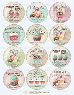 Shabby chic Sweets Circles Micro slides