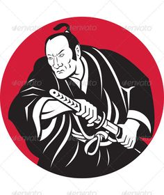 VECTOR DOWNLOAD (.ai, .psd) :: http://vector-graphic.de/pinterest-itmid-1000927761i.html ... Samurai Warrior With Katana Sword ...  fighter, illustration, japanese, katana, male, man, retro, samurai, sword, vector, warrior  ... Vectors Graphics Design Illustration Isolated Vector Templates Textures Stock Business Realistic eCommerce Wordpress Infographics Element Print Webdesign ... DOWNLOAD :: http://vector-graphic.de/pinterest-itmid-1000927761i.html