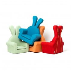 Honeydew Rabbit Baby Soft Chair  Couch  by Junghye Yoon