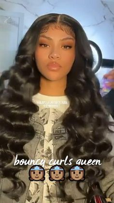 Quick Weave Hairstyles, Black Girl Braided Hairstyles, Dope Hairstyles, Black Women Hairstyles, Frontal Hairstyles, Hair Ponytail Styles, Curly Hair Styles, Natural Hair Styles, Big Curls Weave