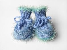 Hand Knitted Baby Booties  Light Blue 6  9 by SasasHandcrafts, $15.50