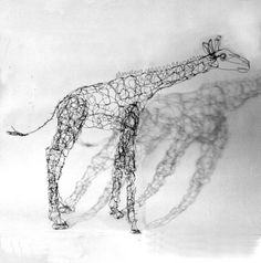 http://www.etsy.com/listing/9036876/giraffe-wire-drawing-sculpture