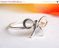 Forget Me Knot Bow RingSterling Silver friendship by RitoOriginals, $20.00