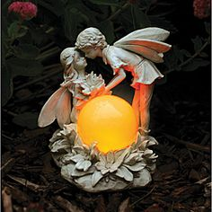 @Overstock - Enhance your yard or garden day or night with this beautiful statue that glows at dusk and is protected by a hand-applied, water-resistant finish. It is operated with solar panels on the back that recharge the Ni-Cad batteries during the day.http://www.overstock.com/Home-Garden/Echo-Valley-Antique-Ivory-Kissing-Solar-Fairies/4808564/product.html?CID=214117 $42.99