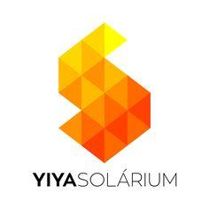 Logotipo criado para a Yiya Solárium, uma empresa de bronzeamento na Bolívia.