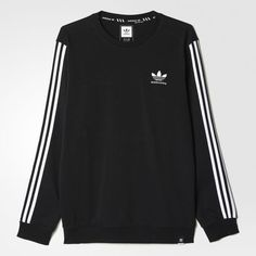 The Adidas Clima crew is a crew neck sweatshirt that's more than meets the eyes. Climalite is Adidas signature moisture-whicking material that sweeps sweat right off your skin. So what we've got h Mode Outfits, Casual Outfits, Fashion Outfits, Fashion Trends, Adidas Outfit, Adidas Shoes, Shoes Sneakers, Adidas Hoodie, Crew Sweatshirts