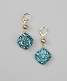 Take a look at this Turquoise Square Drop Earrings by Embassy Jewels on #zulily today!