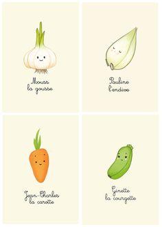 Cute Vegetable prints Le Bun L'Amour - Les Joues Grises