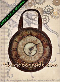 Tiberio Dark Side - Bolso Reloj Victoriano Marrón