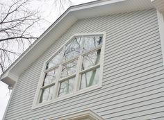 James Hardie Siding: Light Mist and Andersen Windows, installed by Opal Enterprises in La Grange, IL.