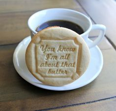 Embossed Cookie Mold You know I'm all about that by ScissorMill