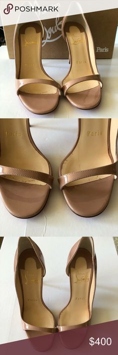 Christian Louboutin Toboggan Half-d'Orsay Christian Louboutin Toboggan Half-d'Orsay in nude size 34.5. Wore then once for 3 hours. Almost new. Gorgeous shoes but a little big for my feet. Comes with box, dust bag and shoe taps. Christian Louboutin Shoes Heels