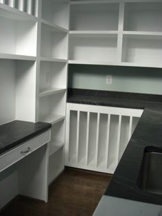 If you have a walk in pantry, why not add additional shelving and tables? Great idea