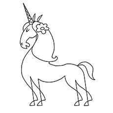 Unicorn Coloring Pages Persian Unicorn