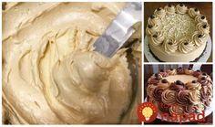 Tento krém používam už roky, je výborný a recept mám od cukrárky, ktorá nám robila svadobnú tortu. Krém sa mi vždy krásne vydaril. Môžete namiesto kakaa môžete pridať vanilku, punčovú arómu, karamel alebo akúkoľvek inú Sweet Recipes, Icing, Peanut Butter, Food And Drink, Pie, Cupcakes, Sweets, Cookies, Cream
