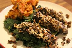 <p>Crunchy, meaty slabs of portobello coated in a crumbling peppery hazelnut shell.</p>