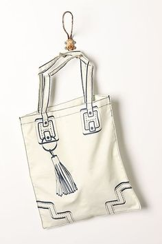 trompe l'oeil tote from Anthro.