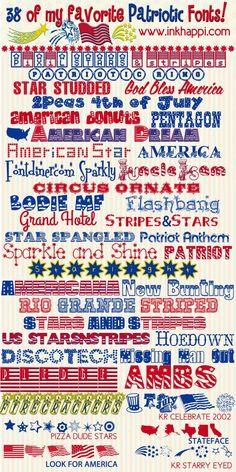 38 of my Favorite Free Patriotic Fonts at inkhappi.com ~~ {38 Free fonts w/ easy download links} ~~ Fancy Fonts, Cool Fonts, Computer Font, Cricut Fonts, Clip Art, Typography Fonts, Typography Design, Tattoo Fonts, Grafik Design