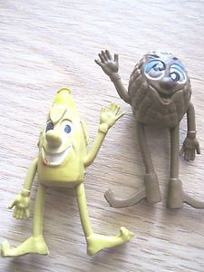 1970's Munch Bunch Pencil Tops Toppers Made in Hong Kong. I had a recurring nightmare about the grape one as a kid :(