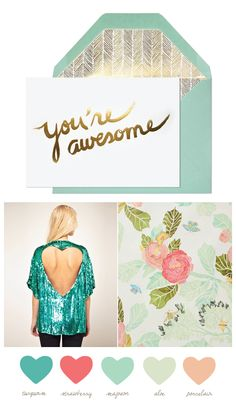 Party Palette: Seafoam & Strawberry
