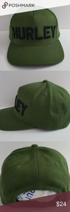 1 New Men Green   Black Hurley Cap 8c91f7a3dc66