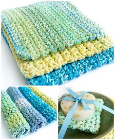 This very simple pattern for easy thick crochet wash & dishcloths makes a nice, chunky, textured dishcloth or washcloth that's perfect for gift giving. A great pattern for beginners.