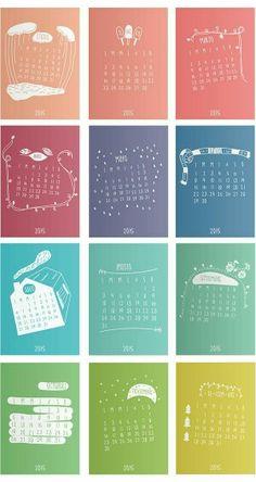 Calendário planner 2015